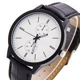 HAIQIN LK005 Luxury Leather Strap Analog Quartz Watch