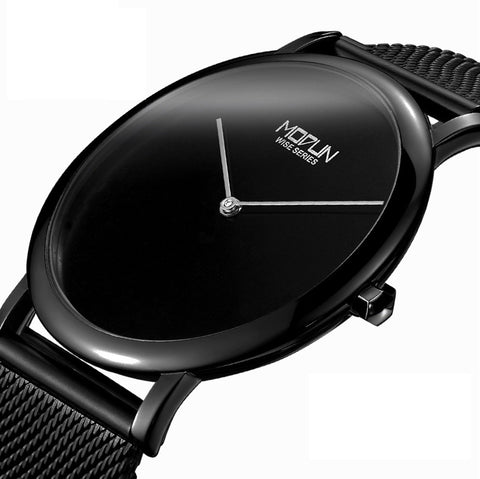 HAIQIN MD745 Luxury Ultra Thin Stainless Steel Quartz Watch