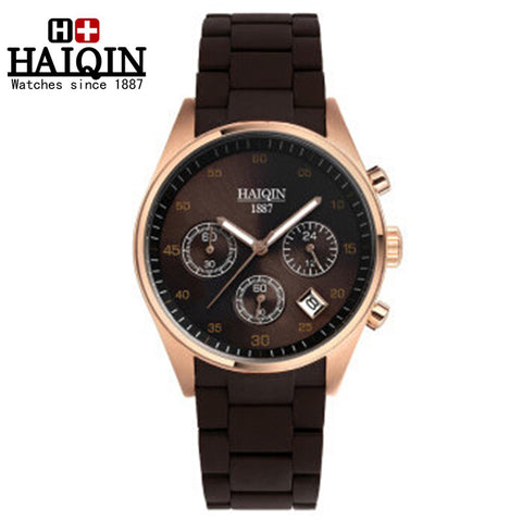 HAIQIN 9010 Military Sport Luminous Chronograph Quartz Watch