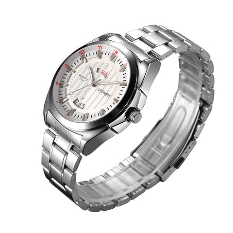 HAIQIN LAG053 Luxury Stainless Steel Band Waterproof Quartz Watch