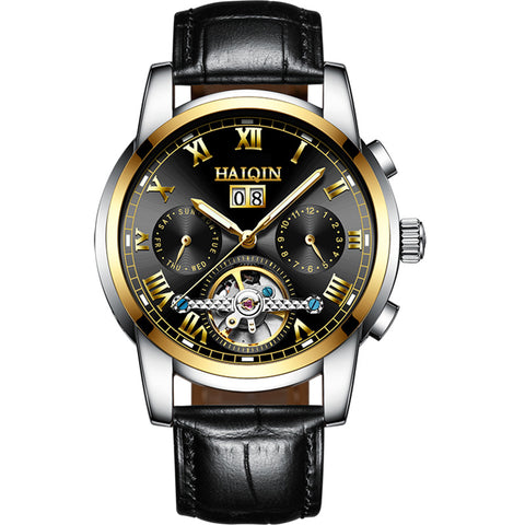 HAIQIN 8888L Sapphire Waterproof Tourbillon Mechanical Watch