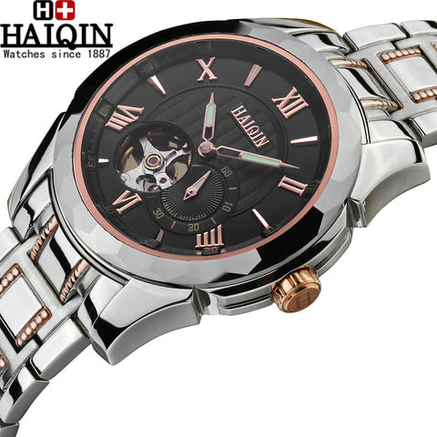 HAIQIN 9100 Tourbillon Luxury Automatic Mechanical Skeleton Watch