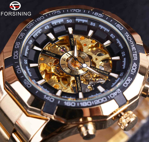 Forsining S893 Luxury Mechanical Skeleton Sport Watch