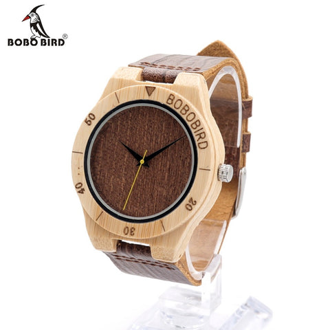 BOBO BIRD Bamboo Luxury Analog Watch