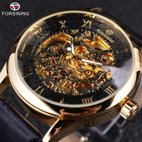 Forsining GMT923 Retro Mechanical Skeleton Watch