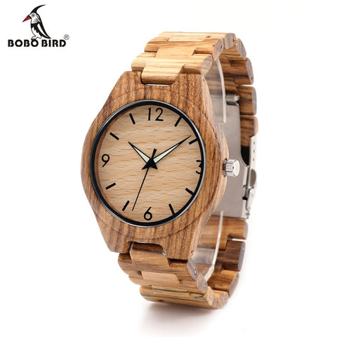BOBO BIRD Luxury Wooden Band Watch