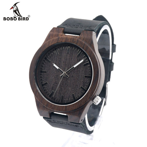 BOBO BIRD B12 Ebony Bamboo Wooden Watch