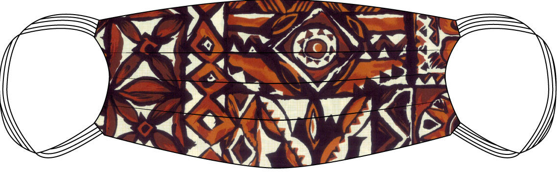 PPE Mask Hawaiian Tapa Aloha - Medium