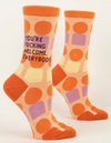 You're Fucking Welcome Crew Socks - NEW!