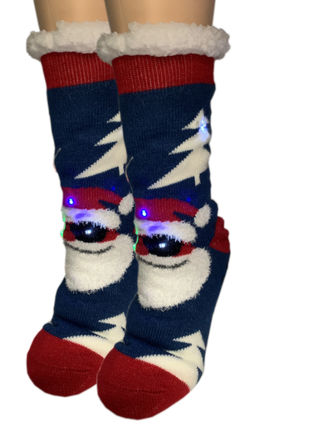 Cool Santa- Holiday Light-Up Sherpa - One Size (5-10)