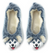 Husky-Travel Buddy Plush Slippers - M