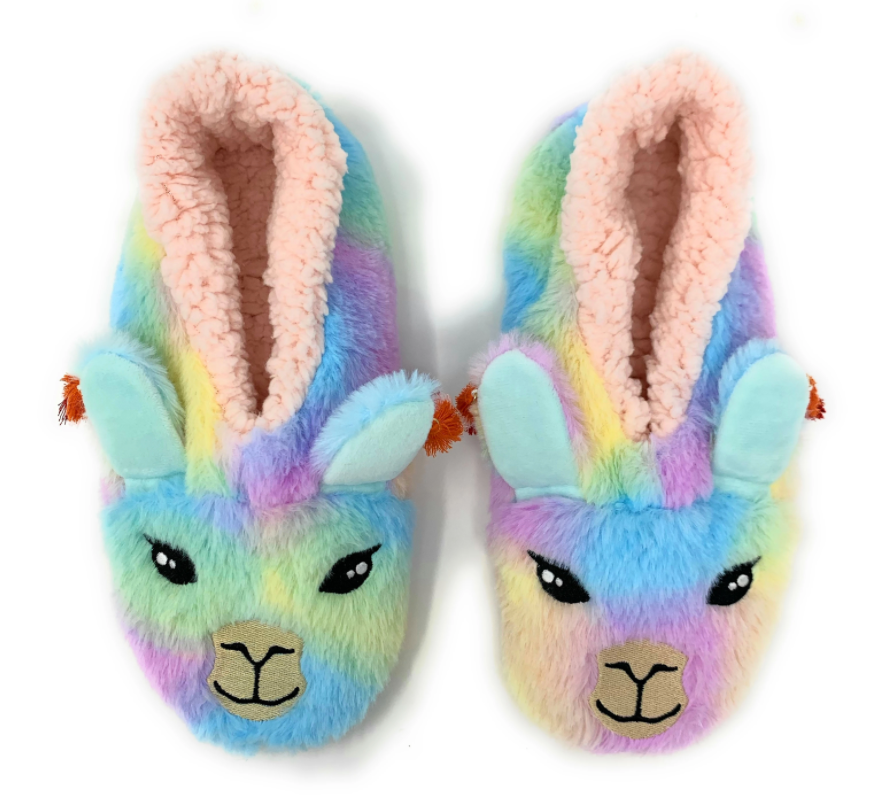 LLAMA STAY WOMENS INDOOR SLIPPER  9-10
