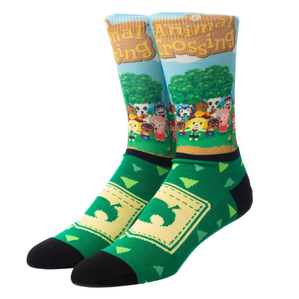 ANIMAL CROSSING PANEL PRINT MENS SOCKS-OSFA