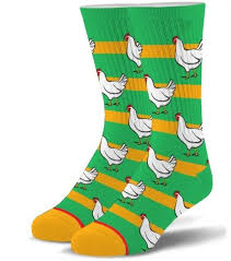 Mens Folded Crew - Chicken Socks