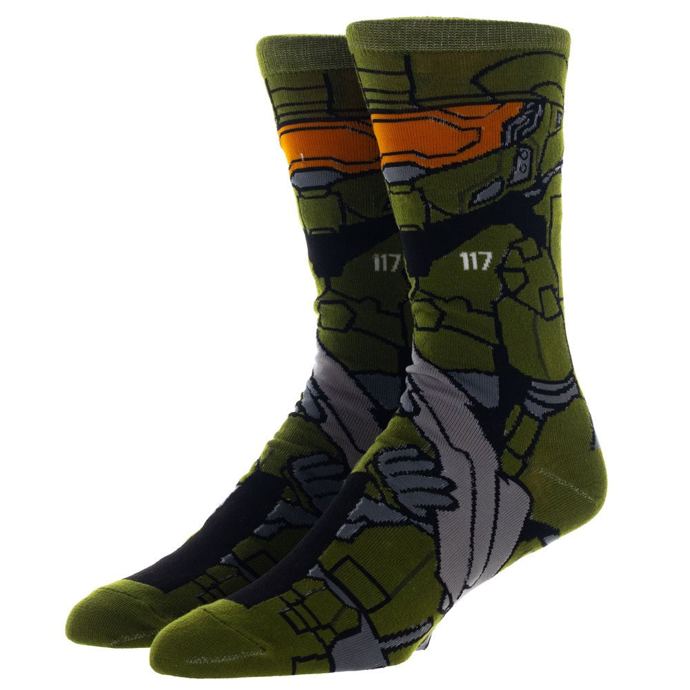 HALO MASTER CHIEF 360 MENS CREW SOCKS-OSFA