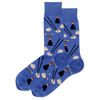 Men's Dumplings Crew Socks - Blue