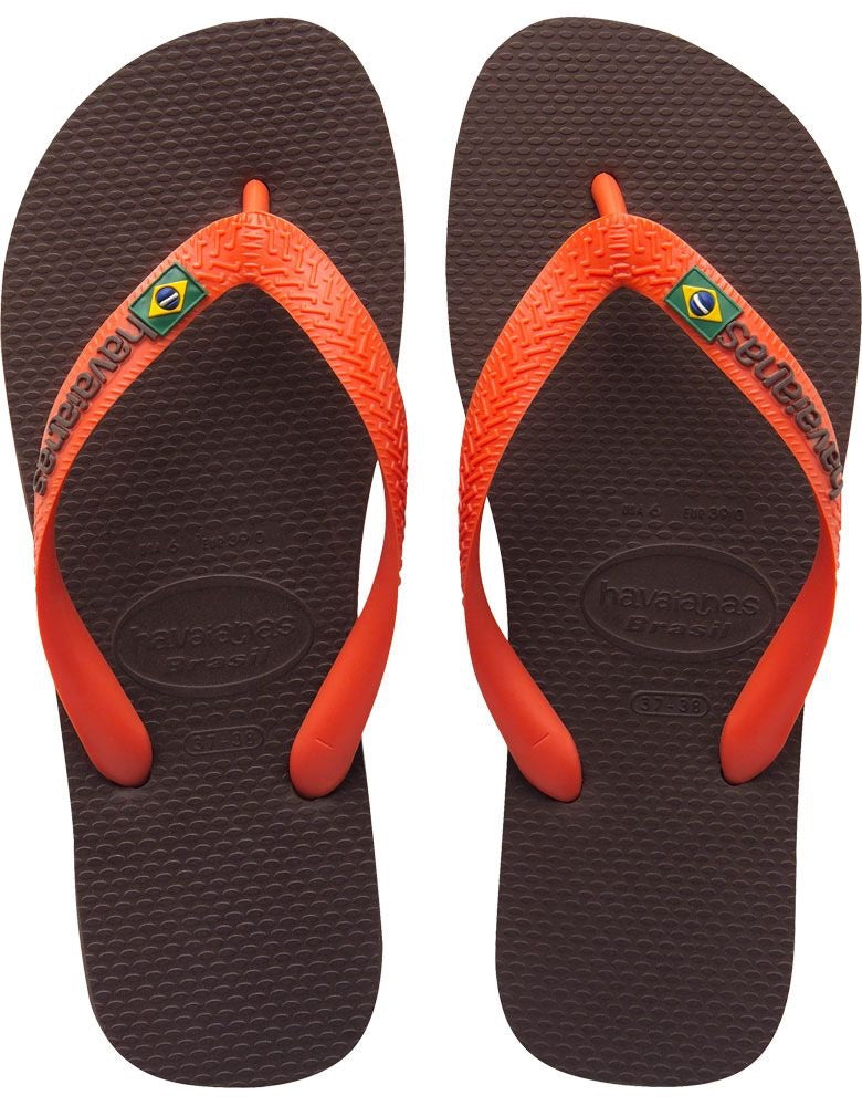 BRAZIL LOGO SANDAL DARK BROWN/ORANGE (Size 9M)