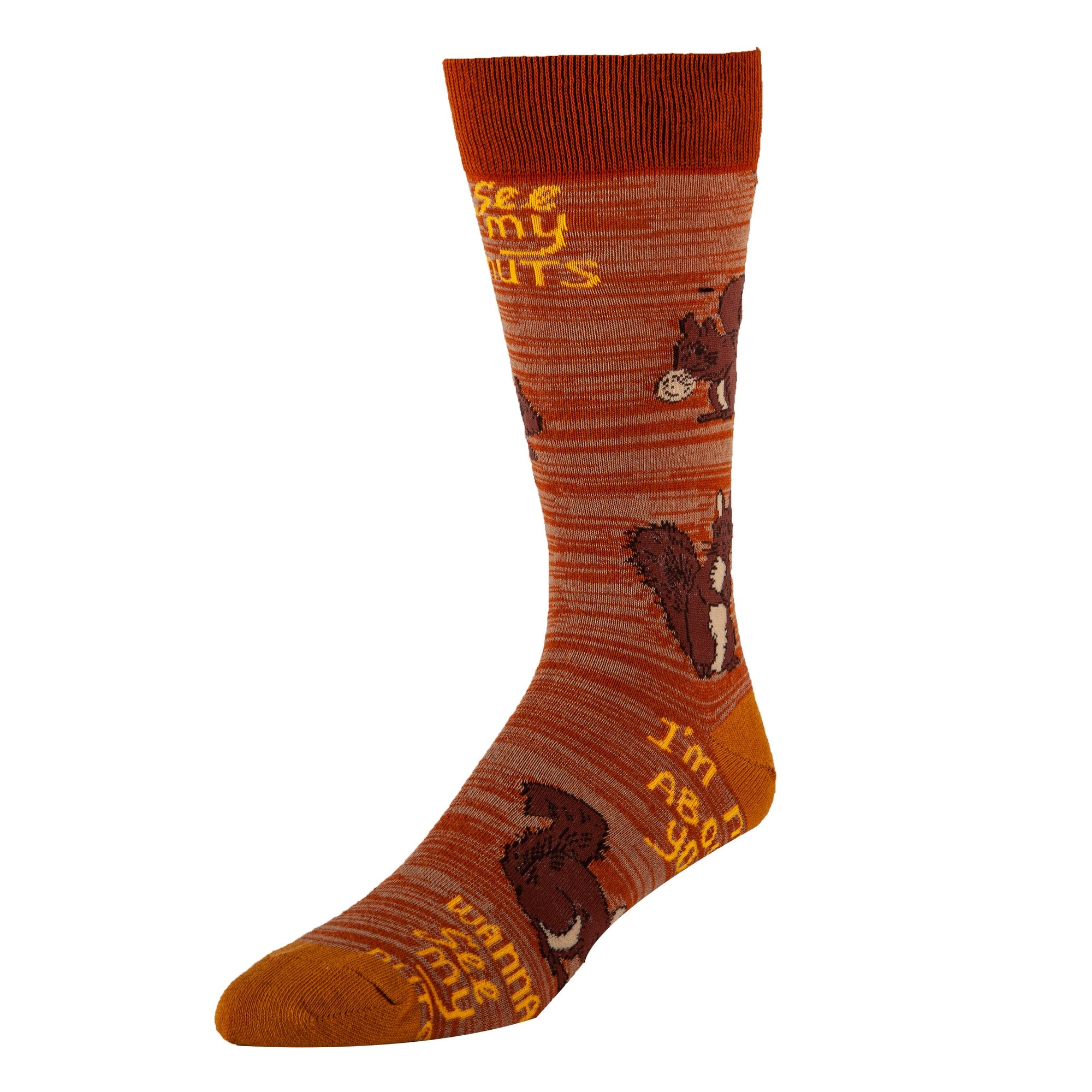 Mens Crew Socks-Nuts About U