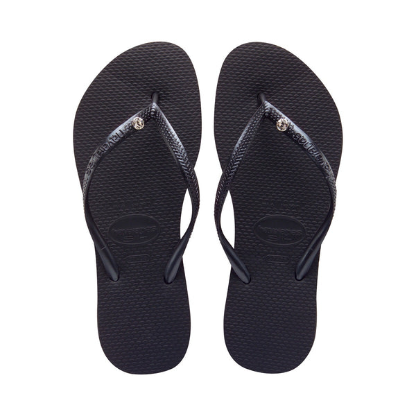 Slim Crystal Glamour Sw Sandal Black (Size 9/10W or 8M)