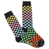 Colorblock Checkers Crew Socks
