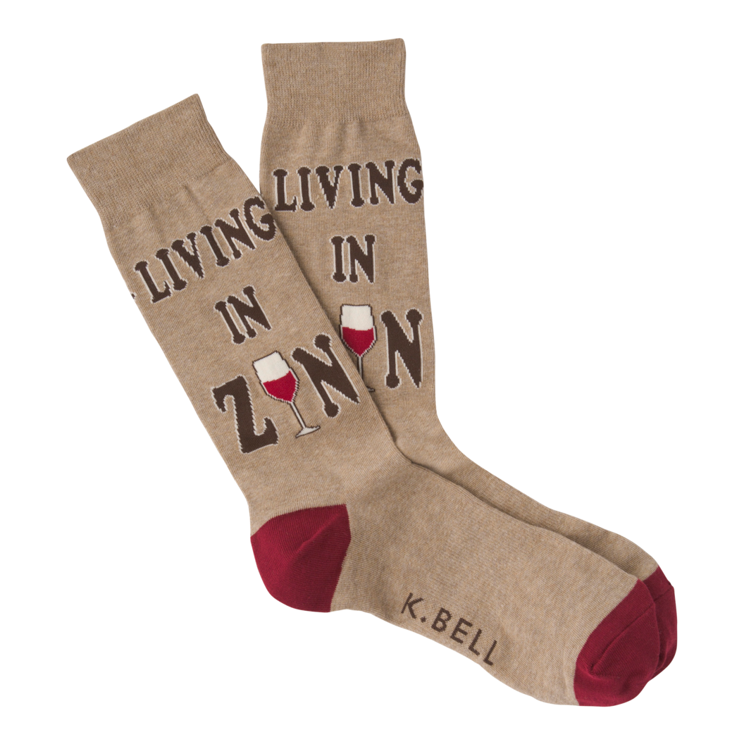 Men's Living in Zin Crew Socks