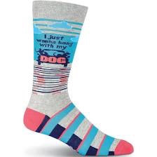 Men's Hang With My Dog Crew Socks