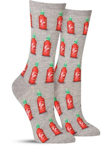 Women's Hot Sauce Crew Socks Grey