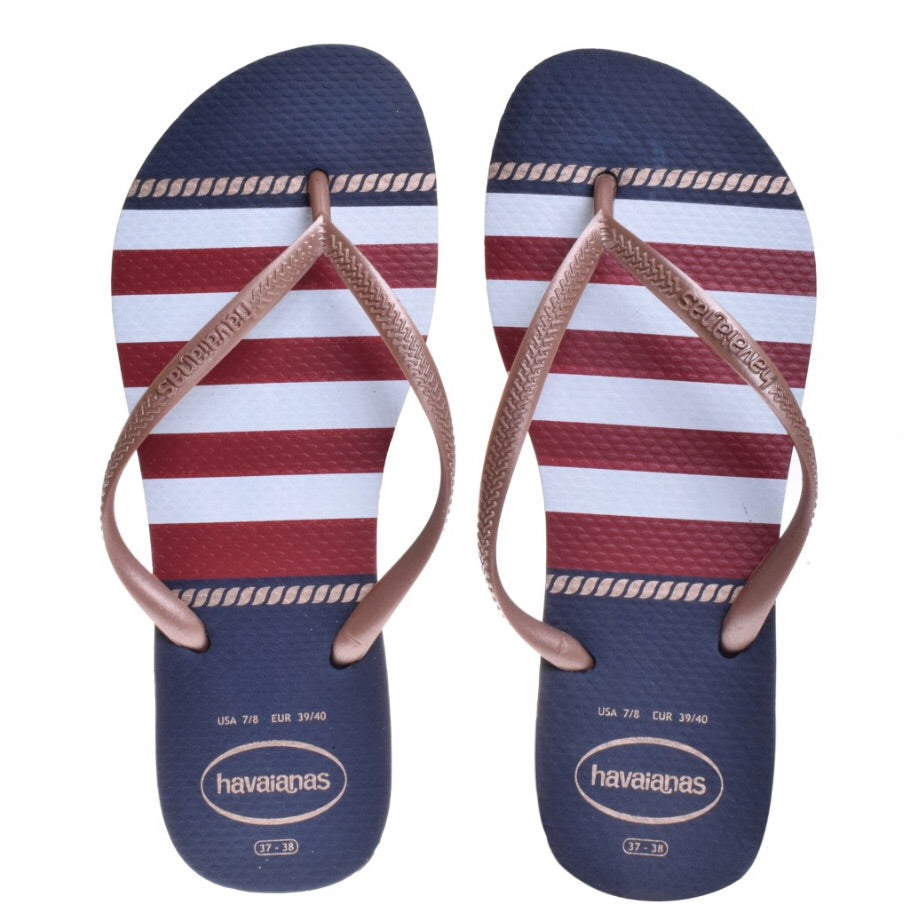 Slim Nautical Sandal Navy Blue 9/10