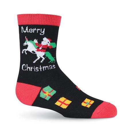 Unicorn Santa Crew Socks