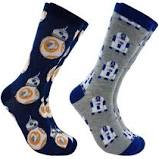 MEN'S 2PK CASUALS BB8 R2D2