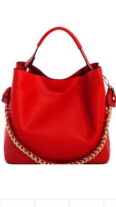 2 in 1 Princess Chic Linked Chain Satchel with Long Trap (BT-07)