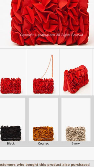 Fashion Flower Clutch with Chain (2723)