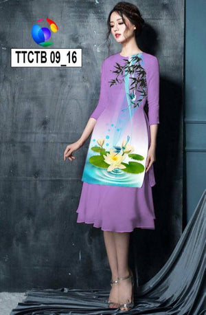 Mordern Aodai with skirt. 2 pieces. 3D print