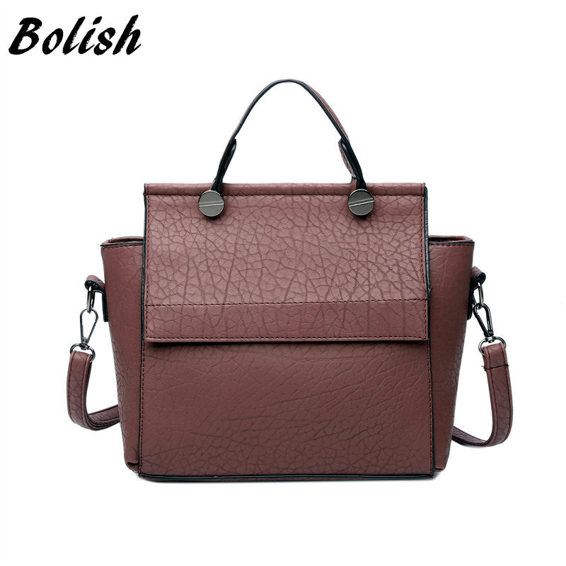 Bolish Vintage Trapeze Tote Leather Handbags