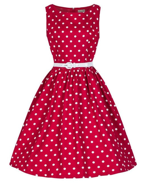 Polka Dot Retro Vintage Dress