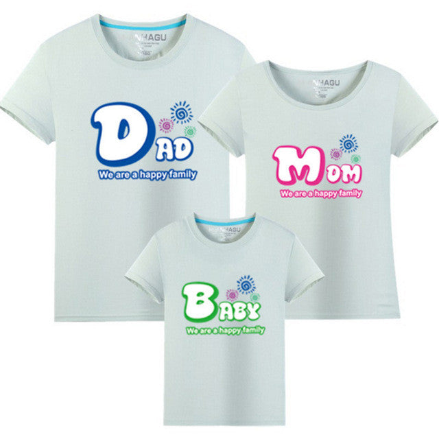 Family Look Letter Pattern T Shirts r Family Matching