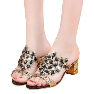 HEE GRAND Crystal Summer High Heels