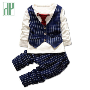 HH 1-3yrs  Necktie stripe shirt+trousers