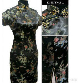 Plus Size S-6XL Summer Women Cheongsam Dress Chinese Traditional Dress Cheongsam Qipao