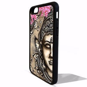 Buddha head statue cherry blossom zen fashion iphone Case FD63