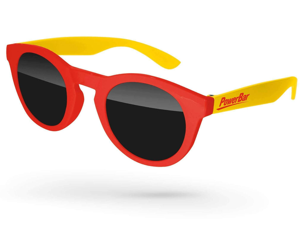 DD012 - 2-Tone Andy Promotional Sunglasses w/ 1-color temple imprint
