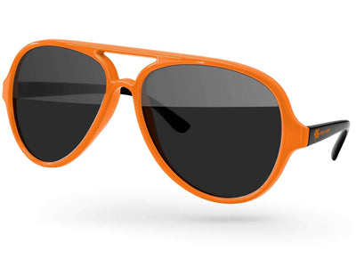 2-tone Aviator Promotional Sunglasses w/ 1-color temple imprint