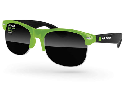 2-tone Club Promotional Sunglasses w/ 1-color lens & temple imprint