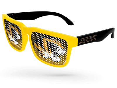 2-tone Heat Pinhole Promotional Sunglasses w/ 1-color temple imprint