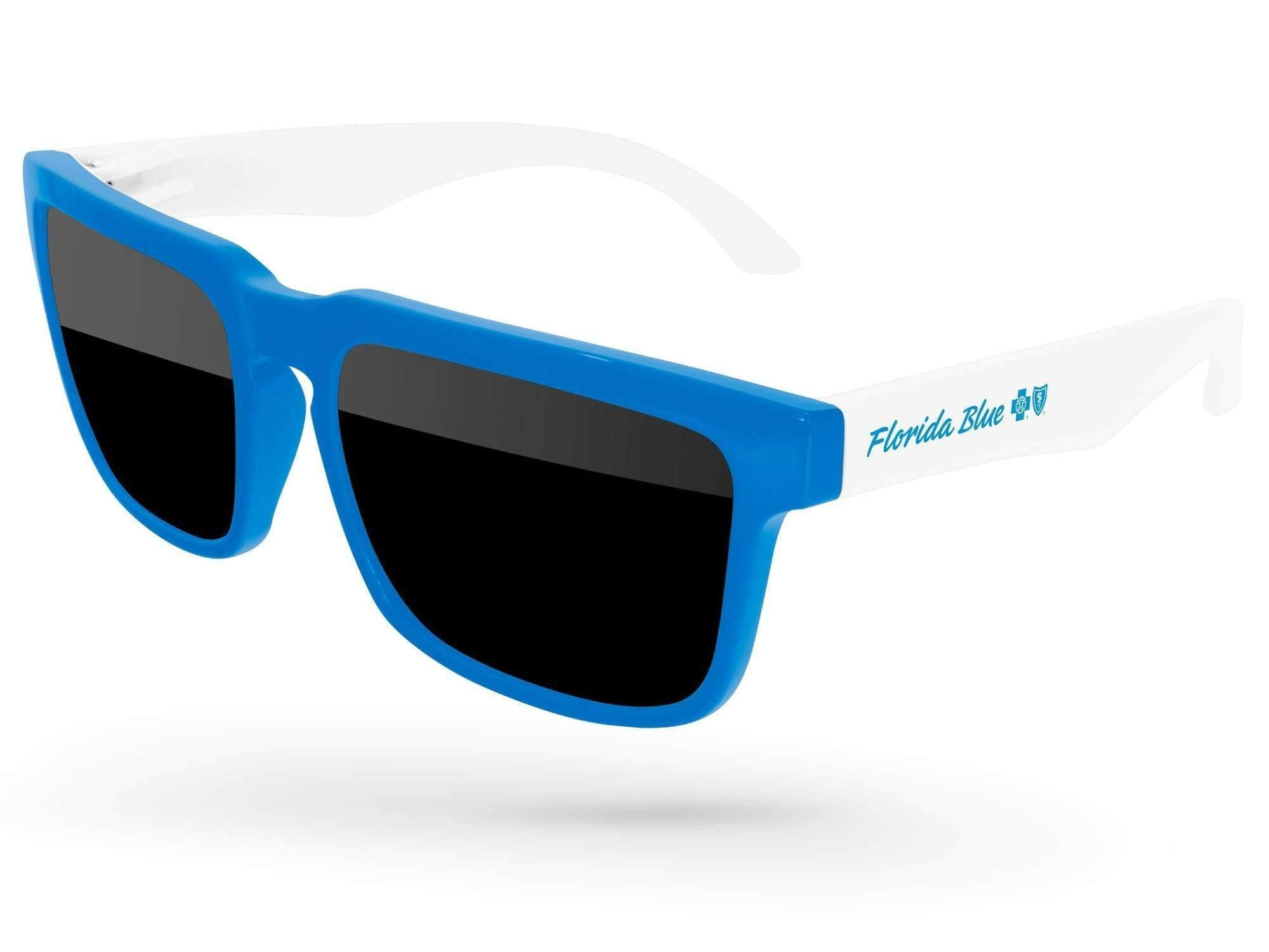 HD012 - 2-tone Heat Promotional Sunglasses w/ 1-color temple imprint