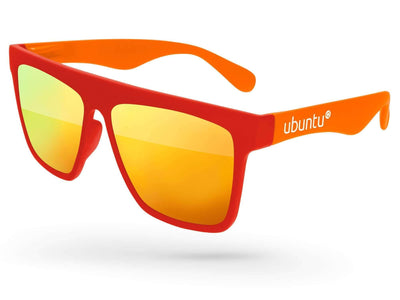 2-tone Laser Mirror Promotional Sunglasses w/ 1-color temple imprint