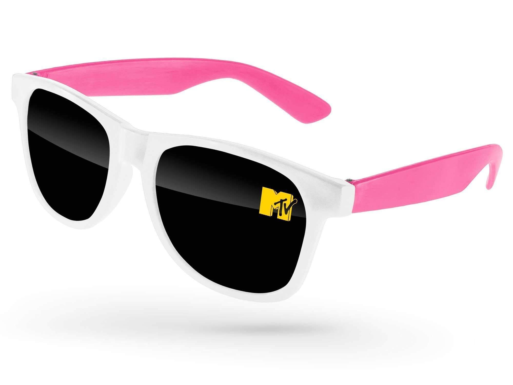 RD502-P - 2-tone Value Retro Promotional Sunglasses w/ 1-color lens imprint