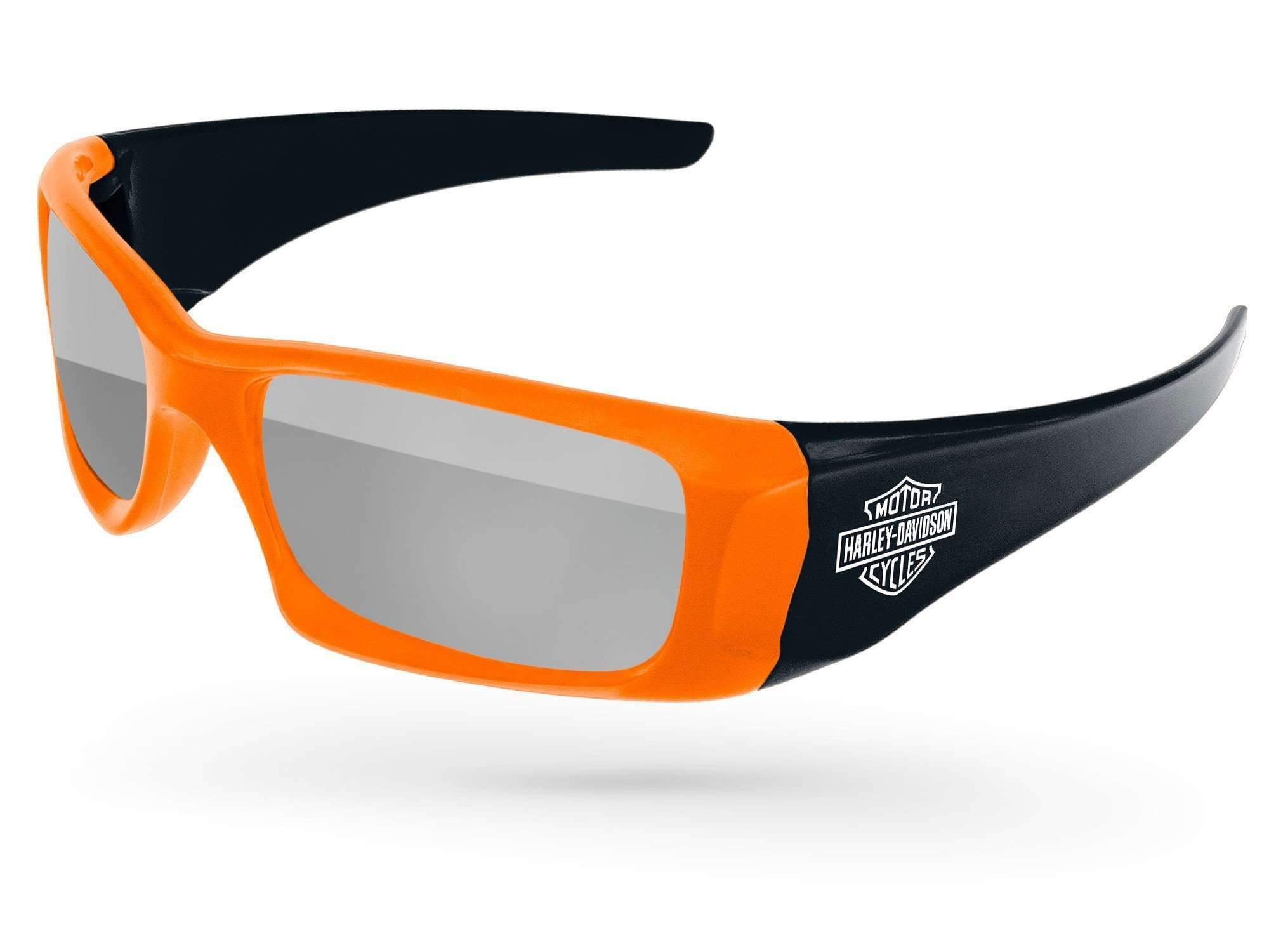 2-tone Wrap Mirror Promotional Sunglasses w/ 1-color temple imprint