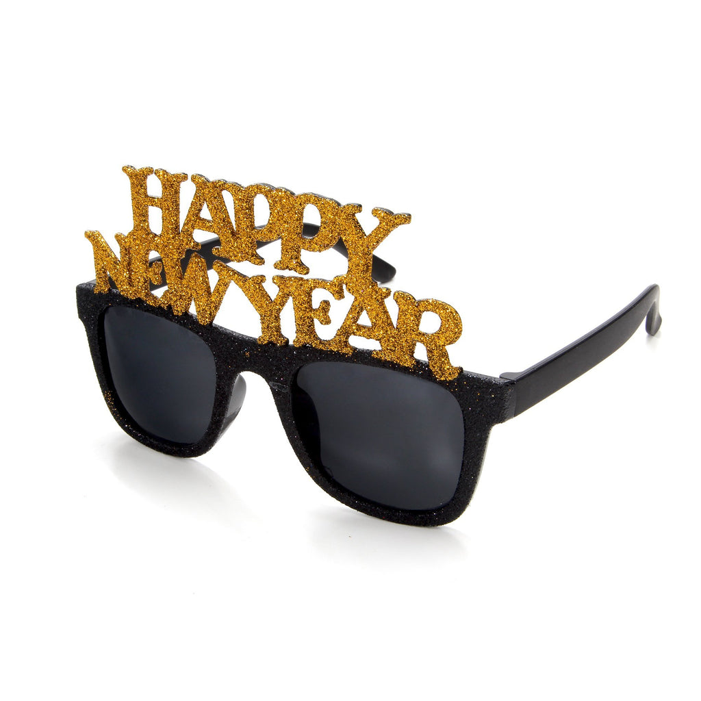 2020-NYE: Novelty Happy New Year Promotional Glitter Sunglasses