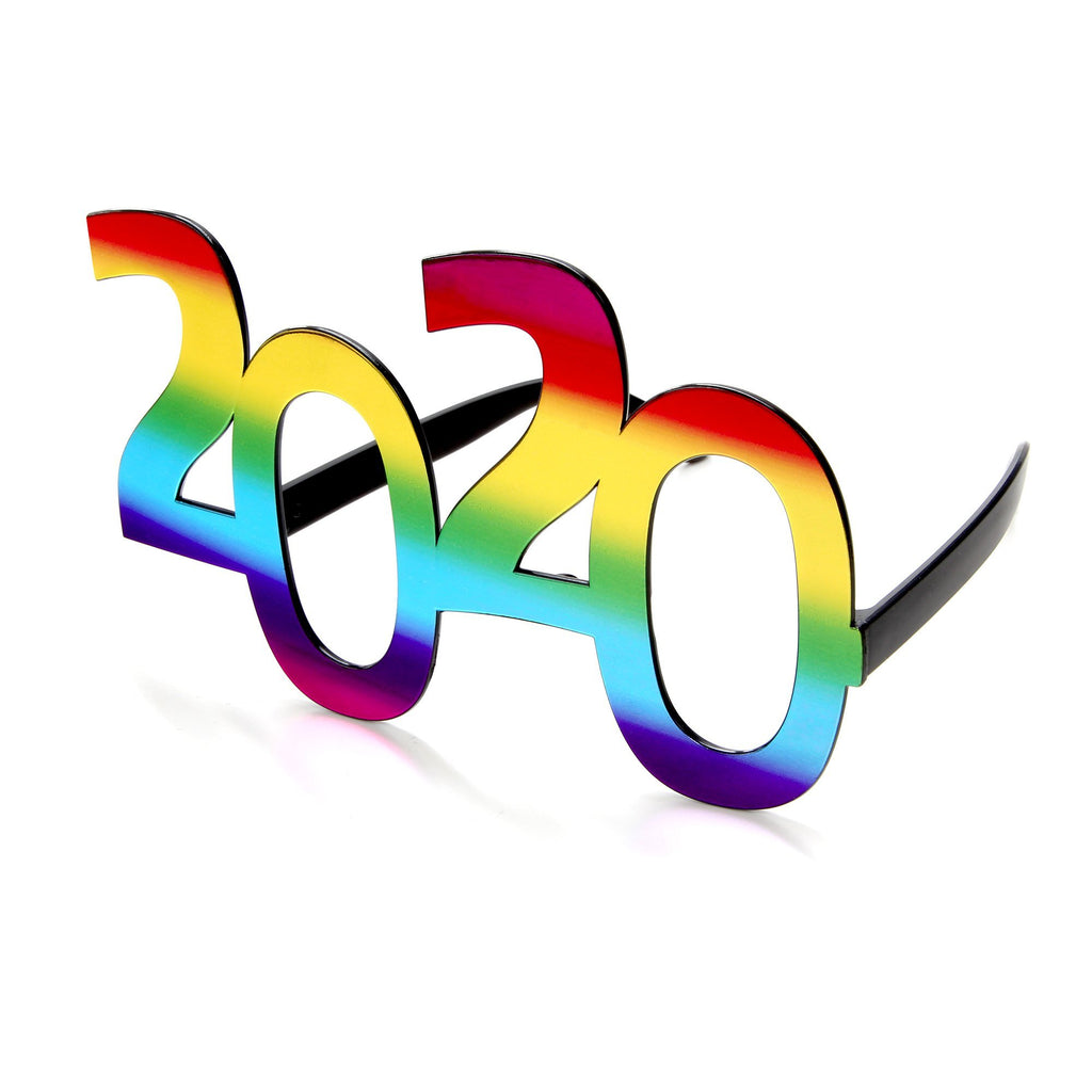 2020-RBW: Novelty Rainbow 2020 New Year Promotional Sunglasses